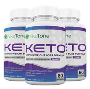 Bottles of Alka Tone Keto